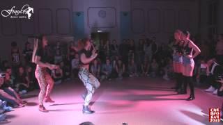 getlinkyoutube.com-Siberian Dancehall Contest 2015 - Dancehall 2x2 - 1/8 final - Katya & Nastya vs. Ice Cream Crew