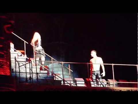 Lady Gaga vomits during her Born This Way Ball in Barcelona on 06.10.12