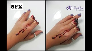 getlinkyoutube.com-I CHOPPED MY FINGERS OFF!! Halloween Makeup Tutorial By Eyedolize Makeup