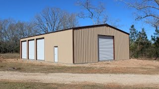 getlinkyoutube.com-The construction of our 40'x60' metal building - completed