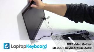getlinkyoutube.com-Samsung NP300E5E Keyboard Replacement Installation Guide NP300E5E 300E5E NP350E5C 350E5C