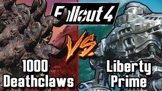 getlinkyoutube.com-Liberty Prime vs 1000 Legendary Alpha Deathclaws | Fallout 4 Battle Arena | Battle Request
