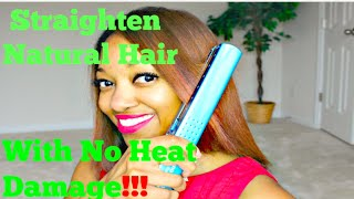 getlinkyoutube.com-How To Straighten Natural (Color Treated) Hair with No Heat Damage or Frizzy Ends!!! 💋