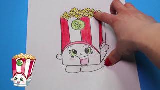 "getlinkyoutube.com-How to Draw Shopkins Season 2 ""Poppy Corn"" Step By Step Easy | Toy Caboodle"