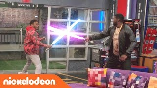 getlinkyoutube.com-Game Shakers | Epic Laser Battle | Nick
