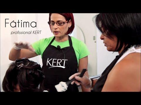 Mechas em cabelos escuros - Transformação passo a passo - KERT