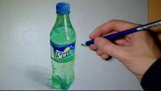 getlinkyoutube.com-Drawing realistic Sprite Bottle o: