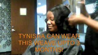 getlinkyoutube.com-FULL SEW IN NET HAIR WEAVE Houston Texas www.houstonhairweavingcenter.com