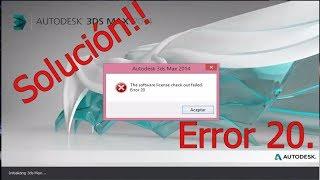 """getlinkyoutube.com-Solución - 3Ds Max """"The software license check out failed. Error 20"""""""