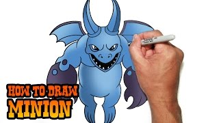 getlinkyoutube.com-How to Draw Minion- Clash of Clans- Video Lesson