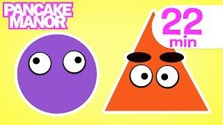 getlinkyoutube.com-SHAPES SONG ♫ | Nursery Rhymes | Kids Songs Collection | Pancake Manor