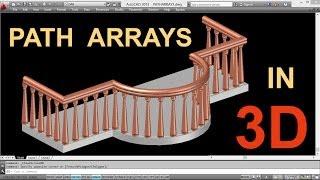 getlinkyoutube.com-THE POWER OF PATH ARRAYS IN 3D | AUTOCAD PATH ARRAY