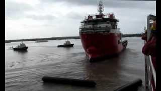 getlinkyoutube.com-92M DP2 Anchor Handling Tug Supply Vessel Launching