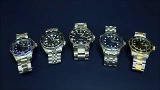 """getlinkyoutube.com-Automatic Dive Watch Comparison Across 5 """"Tiers"""" - From Invicta to Rolex - Perth WAtch #2"""