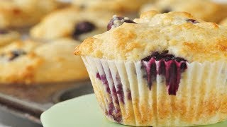 getlinkyoutube.com-Blueberry Muffins Recipe Demonstration - Joyofbaking.com