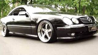 getlinkyoutube.com-W215 CL600 mecIII 11+12x20 satin black 285+305