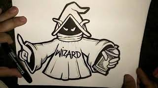getlinkyoutube.com-How To Draw A WIZARD  (Orco Character)