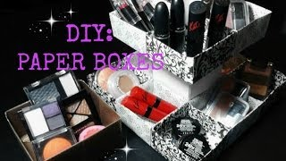 getlinkyoutube.com-DIY: Paper Boxes for Makeup, Jewelry, Cupcakes, Ect...