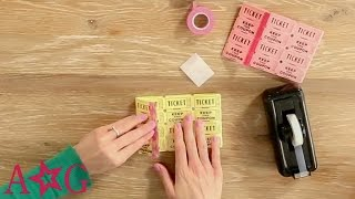 getlinkyoutube.com-Raffle Ticket Stub Wallet Craft | American Girl