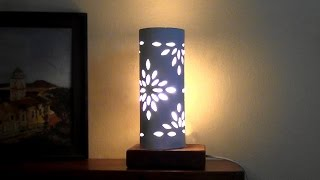 getlinkyoutube.com-LUMINÁRIA TUBULAR DE PAPEL -  PAPER LAMP TUBE -  LAMPARA TUBULAR DE PAPEL