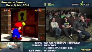 getlinkyoutube.com-Super Mario 64 :: SPEED RUN (0:22:22) *16-Star/1-handed* by PEACHES_ #AGDQ 2014