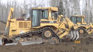getlinkyoutube.com-Road and Wellsite construction at Central Alberta
