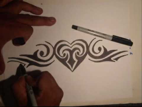 Drawing A Heart-  tribe- By Wizard