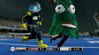 getlinkyoutube.com-Christmas Trees vs MegaMans!? NCAA Football 14 Mascot Mode