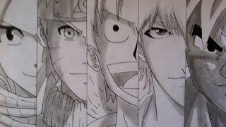 getlinkyoutube.com-Speed Drawing - Anime Heroes