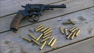 "getlinkyoutube.com-1895 Nagant Revolver - Gas-seal vs. ""Conventional"" Rounds"
