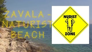 getlinkyoutube.com-NUDIST BEACH ZAVALA, HVAR - THE BEACH (July 2016)
