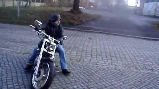 getlinkyoutube.com-YAMAHA DRAG STAR custom -  zimowe przepalanie
