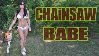 getlinkyoutube.com-48 Year Old BEAUTIFUL LUMBERJACK CHAINSAW SURVIVAL CHICK! Farm Girl