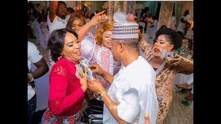 Faithia-Saidi-Balogun-Hold-HandsTalksSmile-Dance-Together-At-Mercy-Aigbe-40th-Birthday-Party width=