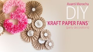 getlinkyoutube.com-DIY Kraft Paper Fans Backdrop / Abanicos de Papel ( Party Decoration - Decoracion de Fiestas)