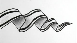 getlinkyoutube.com-[だれでも描ける!線画アート] 立体的なリボンの絵の描き方[ゼンタングル]  How to draw zentangle