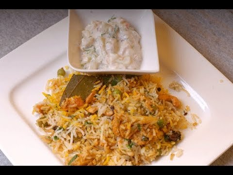 Vegetable Biryani Mumbai Wedding Style - By VahChef @ VahRehVah.com