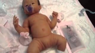 getlinkyoutube.com-Full Bodied Anatomically Correct Soft Silicone Baby Layla