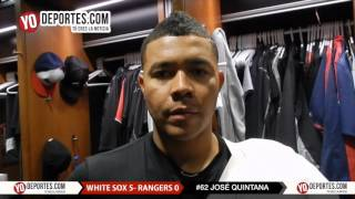 Salió inspirado Jose Quintana White Sox 5-0 Texas rangers
