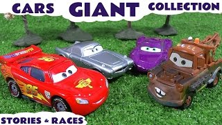 getlinkyoutube.com-Giant Cars Story Video Play Doh English Episodes Thomas & Friends Surprise Eggs Hot Wheels Toys