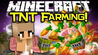 getlinkyoutube.com-Minecraft EXTREME TNT FARMING MOD Spotlight! - Don't Hoe 'Em, Blow 'Em! (Minecraft Mod Showcase)