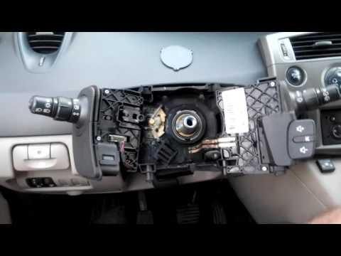 Замена шлейфа подушки безопасности Renault Scenic 2