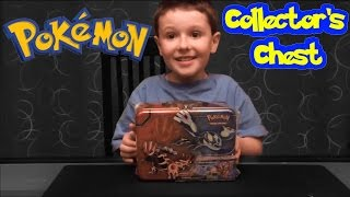 getlinkyoutube.com-Pokemon XY Treasure Chest Opening - Collectors Lunchbox Tin