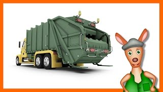 getlinkyoutube.com-GARBAGE TRUCK | Truck videos for kids. Preschool & Kindergarten learning.
