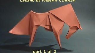getlinkyoutube.com-Origami Horse Caballo by Fabian Correa (part 1 of 2) | Cómo hacer que el caballo Origami