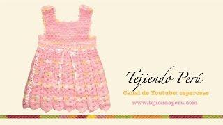 getlinkyoutube.com-Vestido para bebita de 0 a 3 meses tejido en crochet (Parte 3: acabados)
