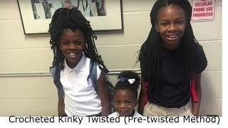 getlinkyoutube.com-Crocheted Kinky Twists (Pre-twisted method)