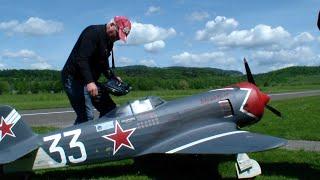 "getlinkyoutube.com-RC Yakowlew Jak-11 400ccm Moki Ster/russisch Яковлев Як 11, NATO Codename ""Moose"""