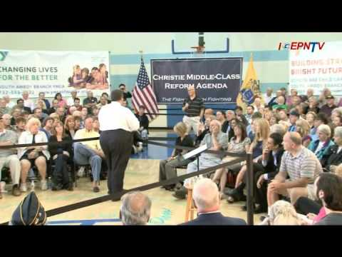 Gov. Christie Speaks About Alimony Reform at Town Hall Meeting