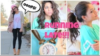 getlinkyoutube.com-Running Late For School ⎜Quick Hair fixes, Makeup, & Outfit Ideas!